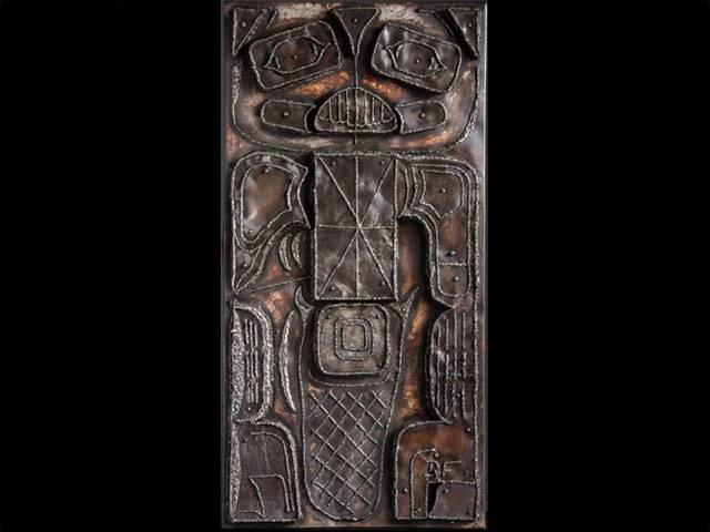 rusty tlingit mini fluder kozy rzźba z metalu