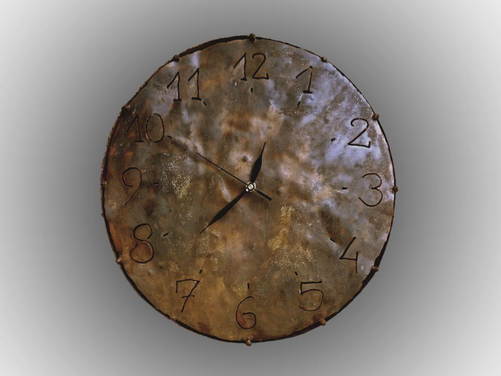 dariusz fluder zegaz z metalu zegar metalowy